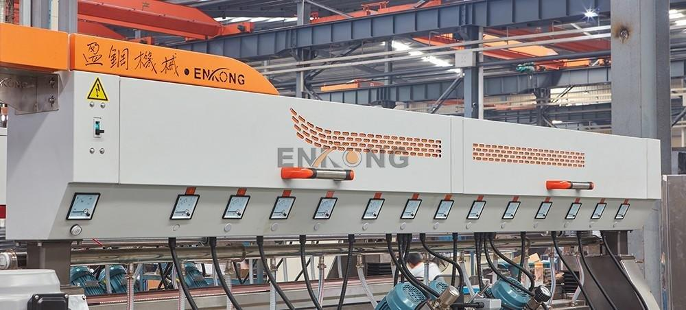 glass glass double edger production Enkong company