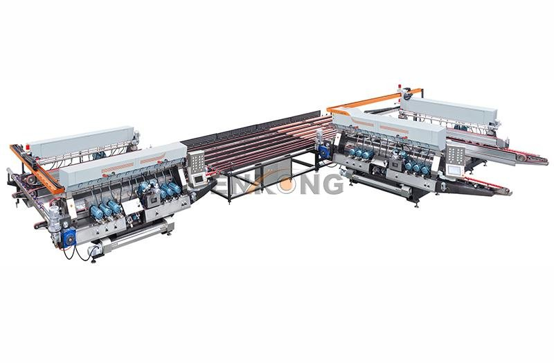 Enkong straight-line glass double edging machine manufacturer for round edge processing-1