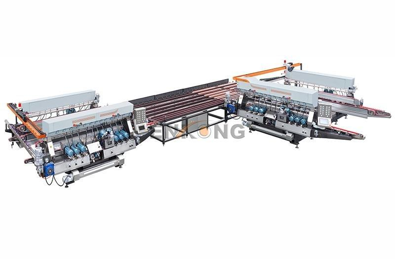 glass double edger line double Enkong Brand double edger