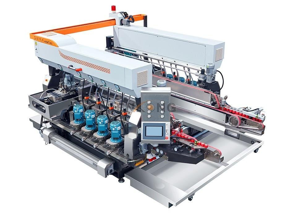 Enkong New glass double edging machine supply for round edge processing-1
