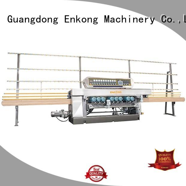 Enkong real glass beveling machine for sale manufacturer for glass processing