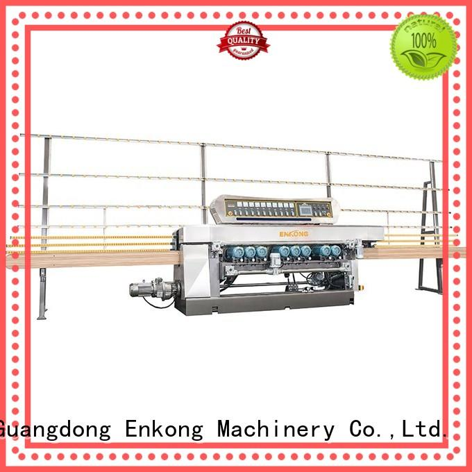 Enkong 10 spindles glass beveling machine for sale factory direct supply