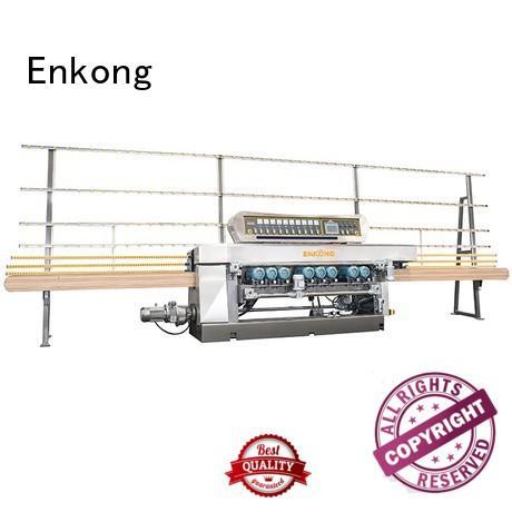 machine straight line glass Enkong Brand glass beveling equipment factory