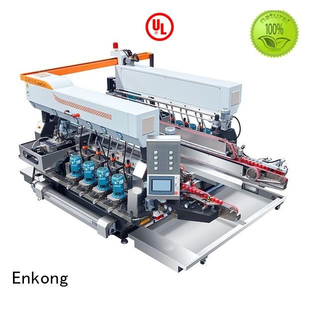 machine speed glass double edger edging production Enkong Brand