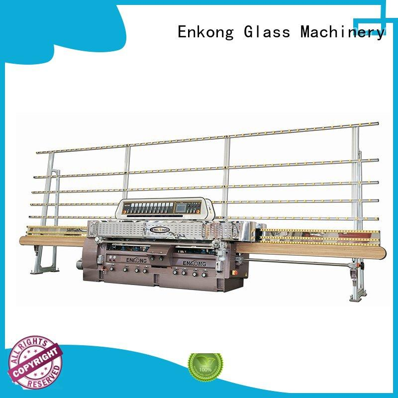 45° arrises glass straight line edging machine manufacturer for processing glass Enkong