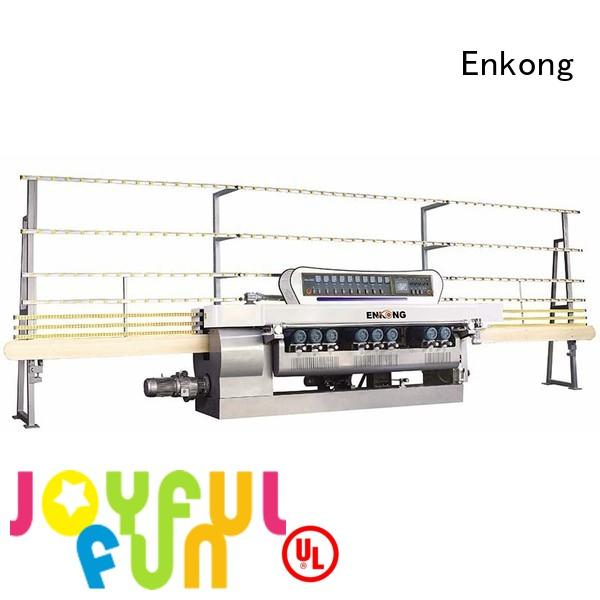glass beveling straight-line Enkong Brand glass beveling machine supplier