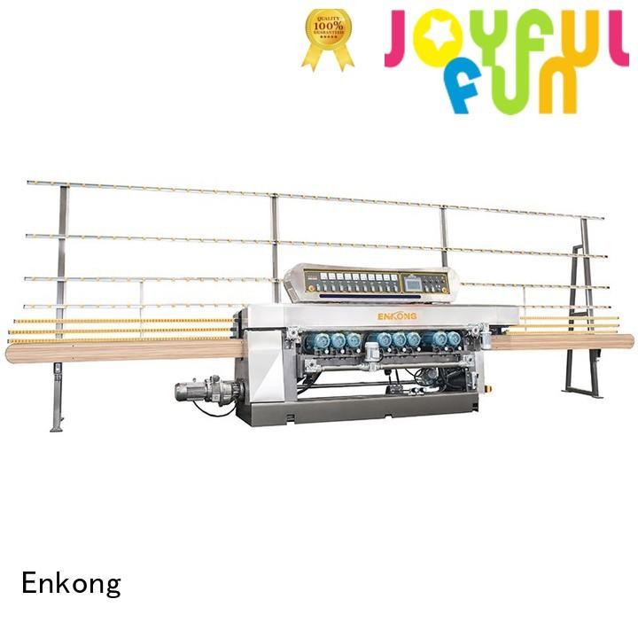 Enkong Brand beveling glass straight line glass beveling equipment