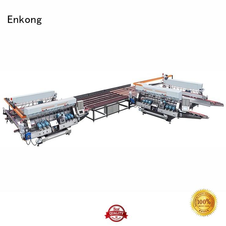 glass double edger production speed double Enkong Brand double edger