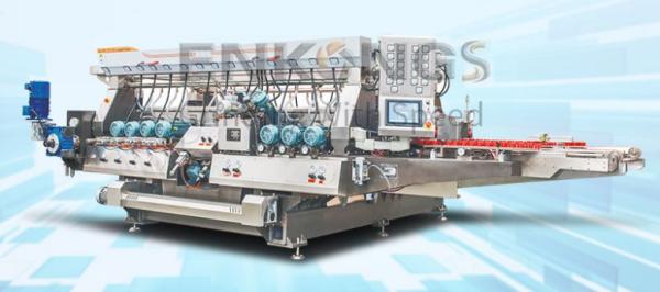 Double straight glass edging machine