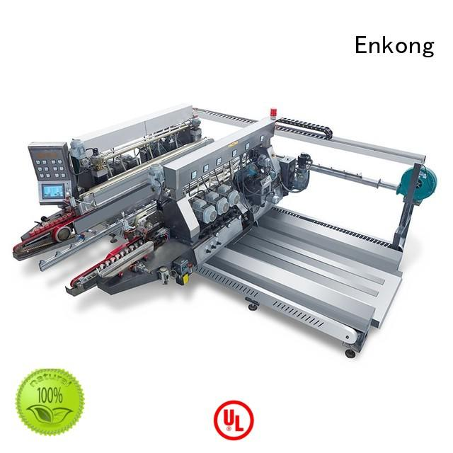 Hot production glass double edger straight-line Enkong Brand