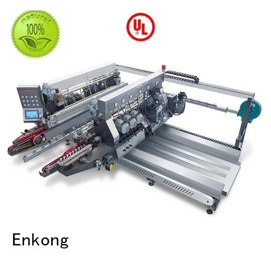 Hot glass double edger edging Enkong Brand straight-line glass
