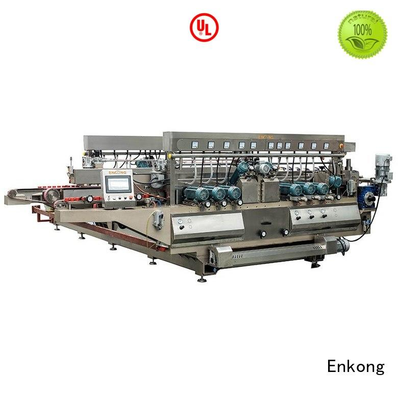 glass double edger straight-line edging Enkong Brand company