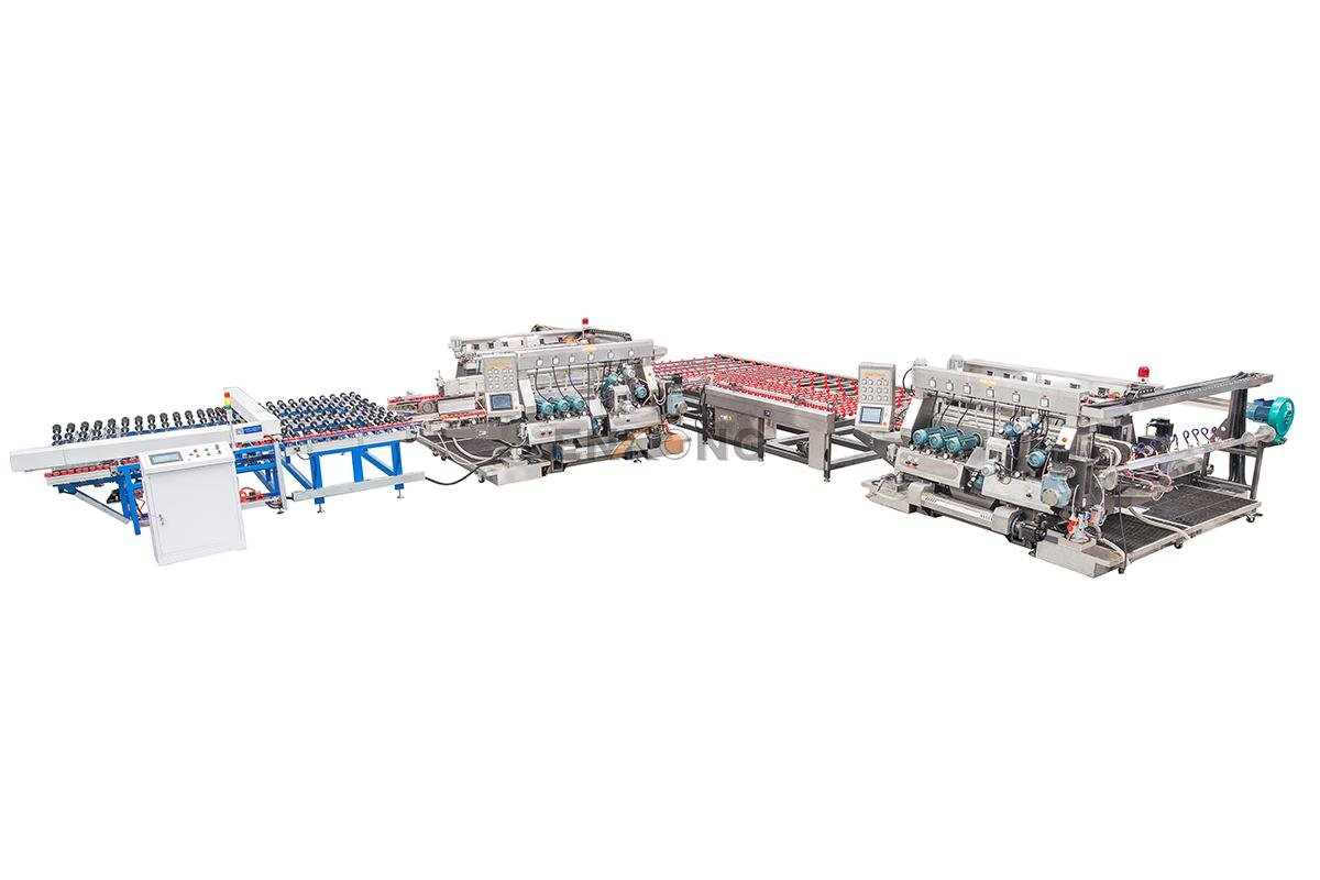 Enkong SM 26 double glass machine factory for round edge processing-2