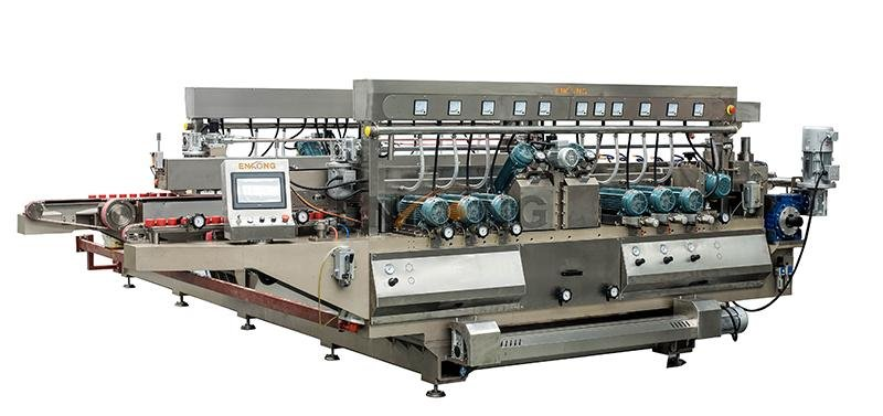 cost-effective glass double edging machine SM 12/08 manufacturer for round edge processing-1
