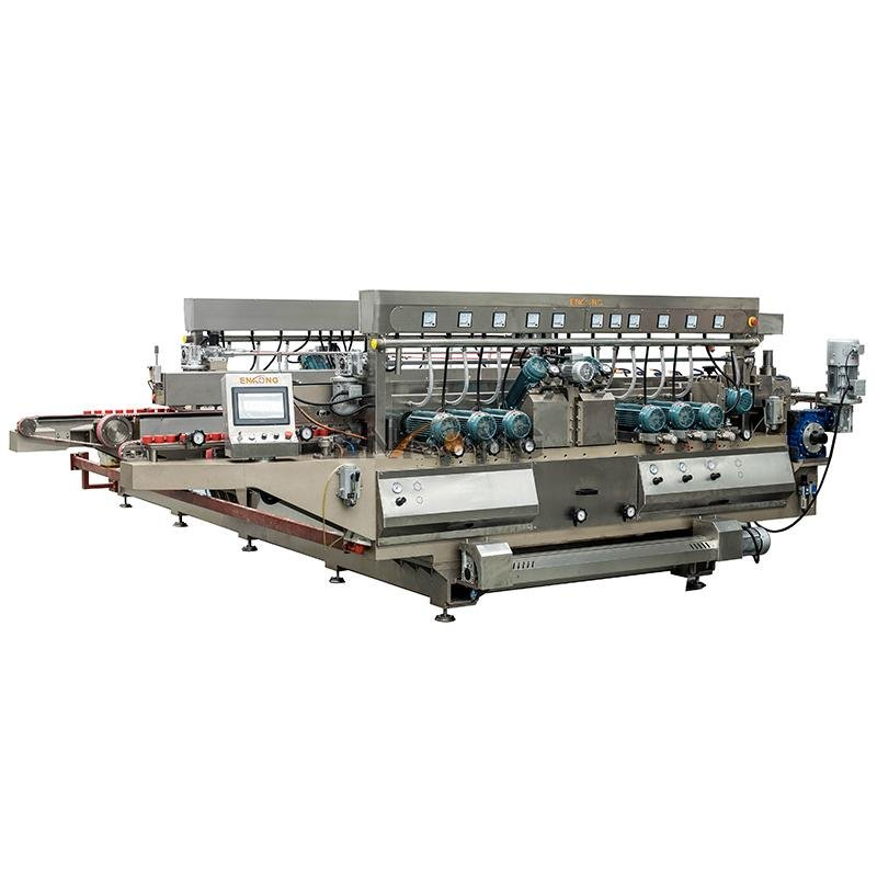 Enkong SM 22 double glass machine company for round edge processing-2