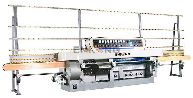 Enkong 60 degree glass mitering machine customized for grind-7