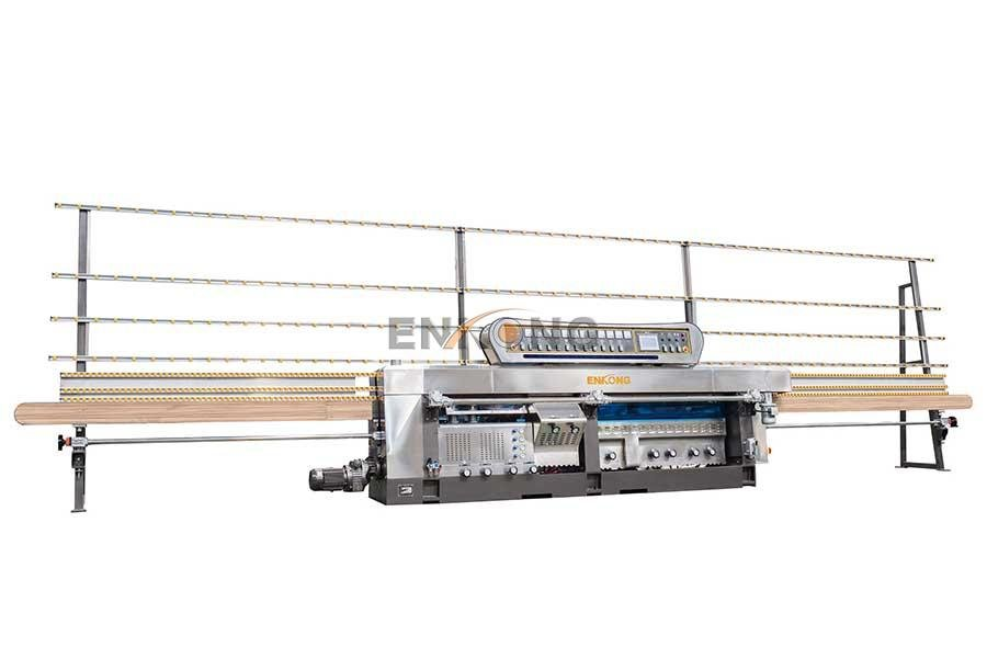 Enkong 5 adjustable spindles glass mitering machine customized for polish-7