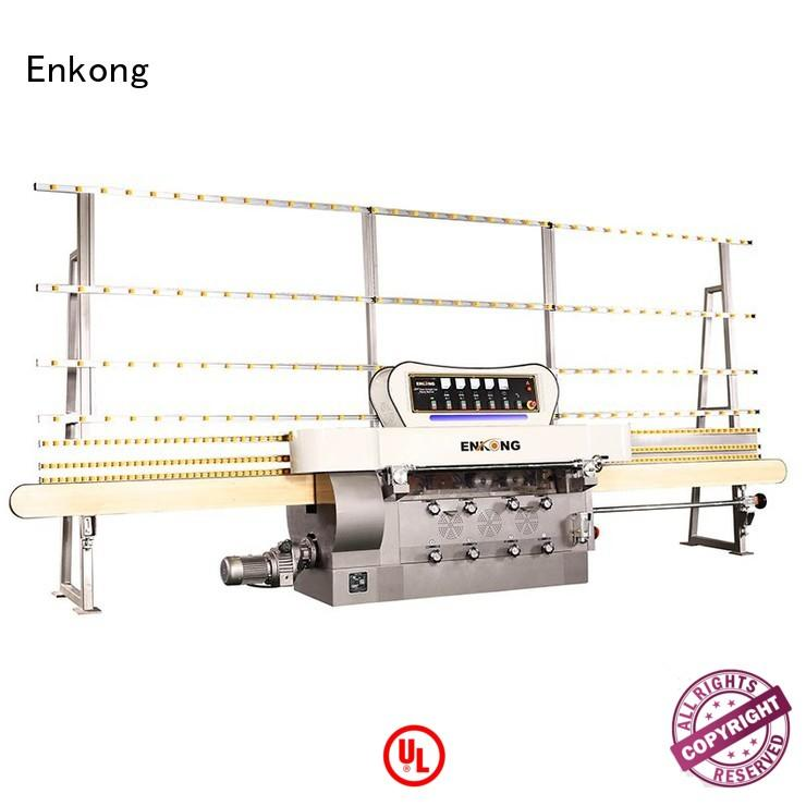 machine straight-line glass edge polishing pencil edging Enkong company