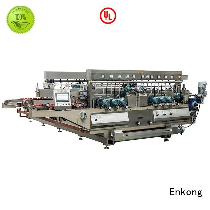 glass round machine Enkong Brand glass double edger manufacture
