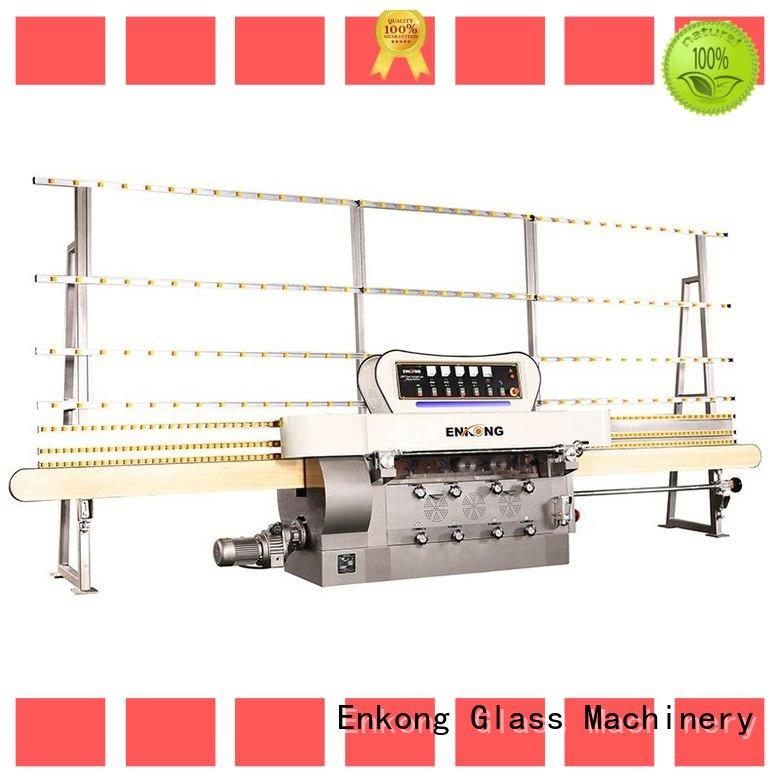 Enkong zm4y glass edging machine customized for fine grinding