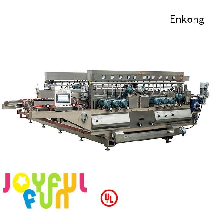 glass line machine round glass double edger Enkong Brand