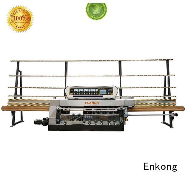 glass edge polishing machine for sale straight-line glass glass edge polishing machine Enkong Brand