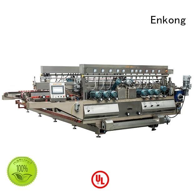 Enkong Brand round production edging custom glass double edger