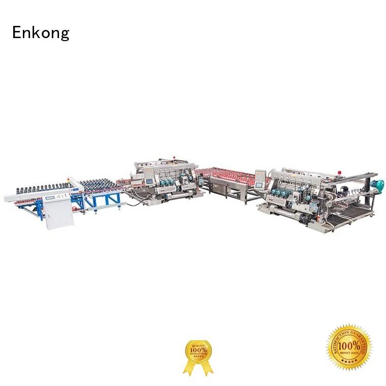 glass line straight-line production glass double edger Enkong Brand