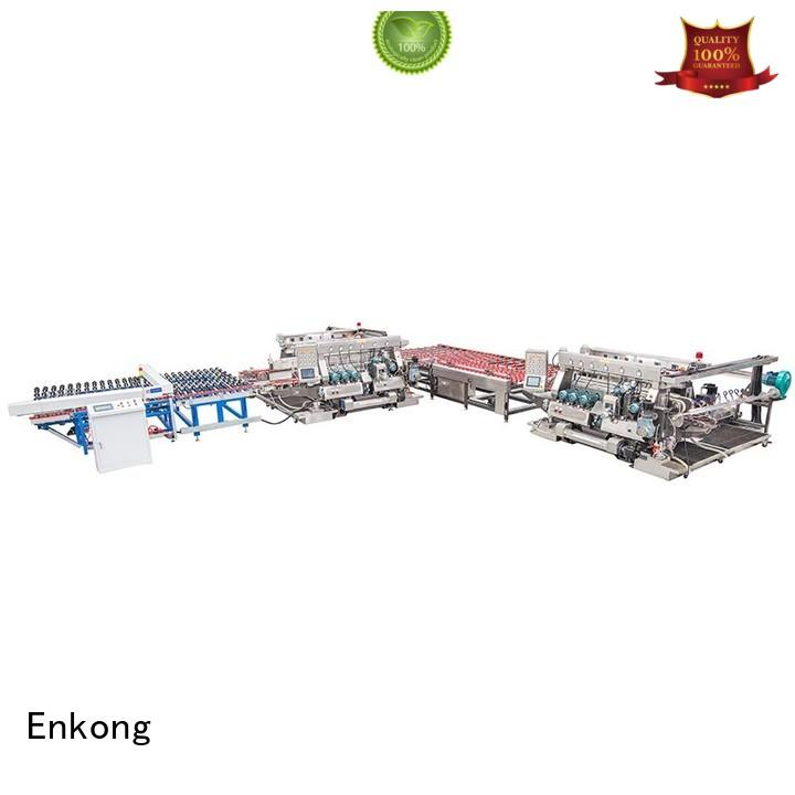 glass edging Quality Enkong Brand glass double edger straight-line straight-line double