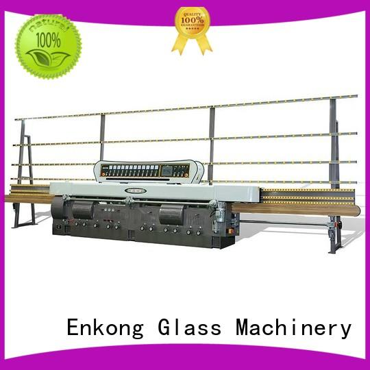 glass straight line edging machine zm11 for fine grinding Enkong
