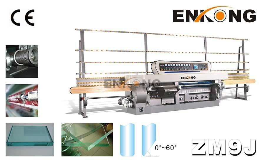 Enkong 60 degree glass mitering machine customized for grind-1