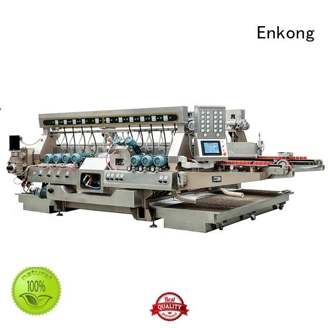 Enkong Brand edging glass round glass double edger line