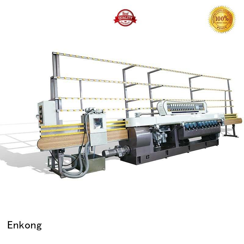 glass straight line machine Enkong Brand glass beveling equipment factory