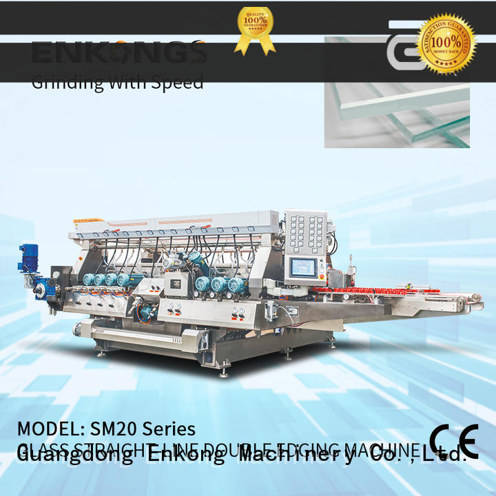 Enkong high speed glass double edging machine factory direct supply for household appliances