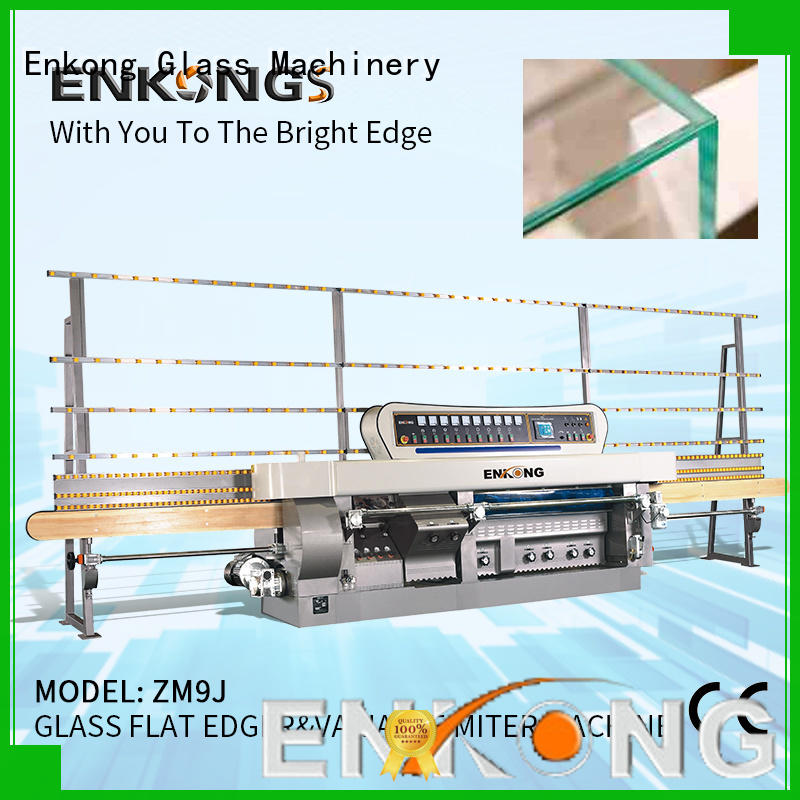 Enkong top quality glass mitering machine customized for grind