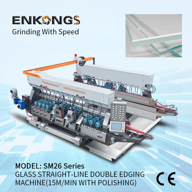 GLASS STRAIGHT-LINE DOUBLE EDGING MACHINE SM 26