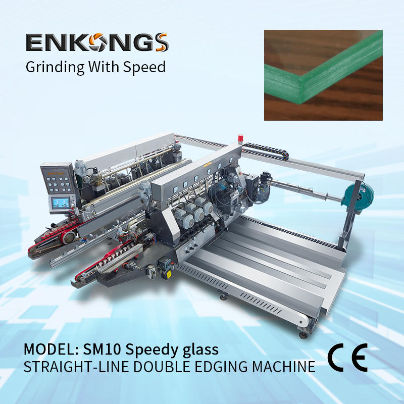 High Speed Double Edging Glass Machinery SM 10