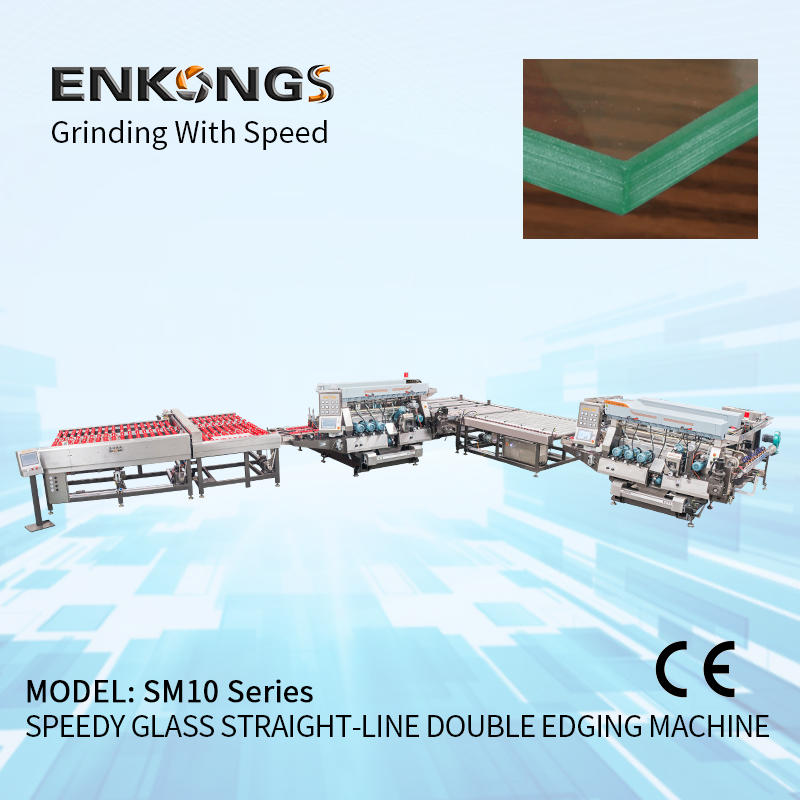 High Speed Double Edging Production Line Glass Machinery