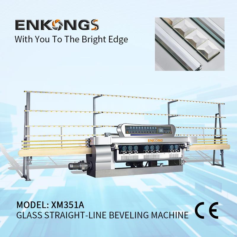 Glass straight-line beveling machine XM351A
