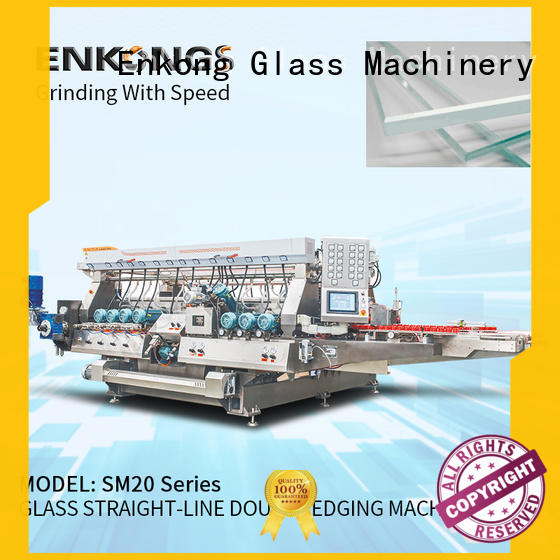 Enkong modularise design glass double edging machine supplier for photovoltaic panel processing