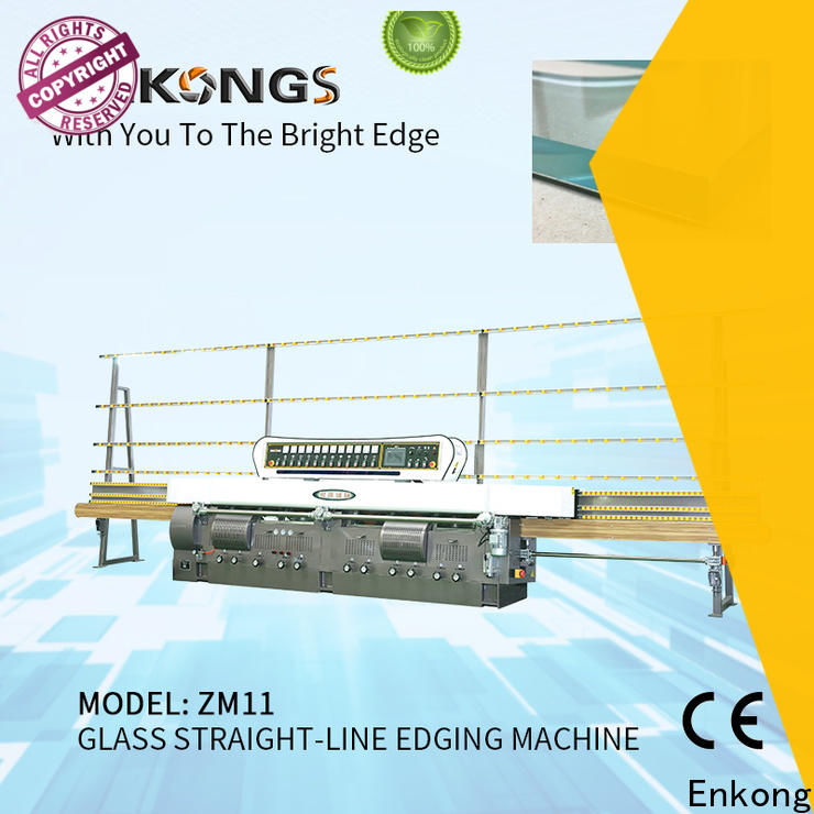 Enkong efficient glass edging machine customized for fine grinding