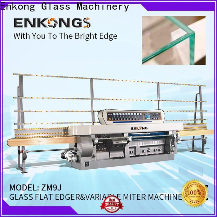 Enkong 5 adjustable spindles glass mitering machine manufacturer for grind