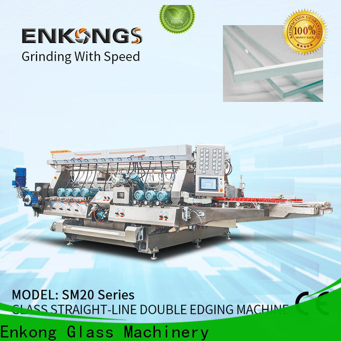 Enkong SM 22 double edger machine factory direct supply for photovoltaic panel processing