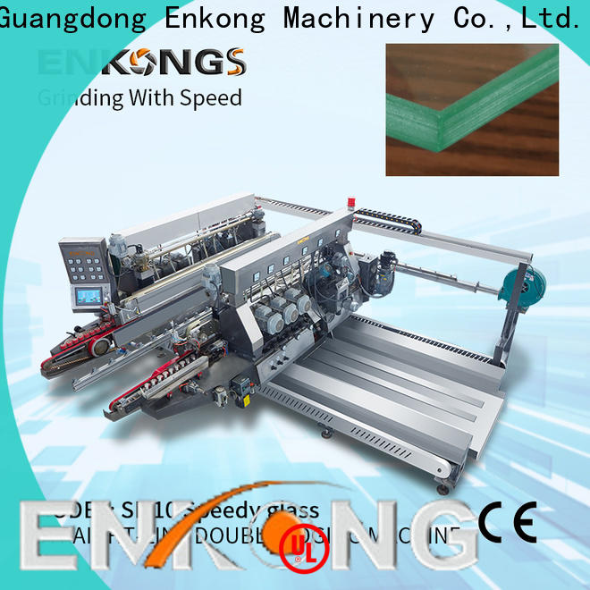 high speed glass double edging machine modularise design supplier for round edge processing
