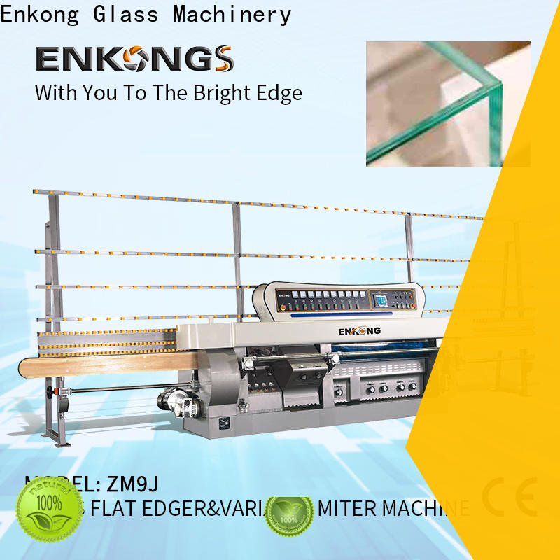 Enkong variable glass mitering machine customized for grind