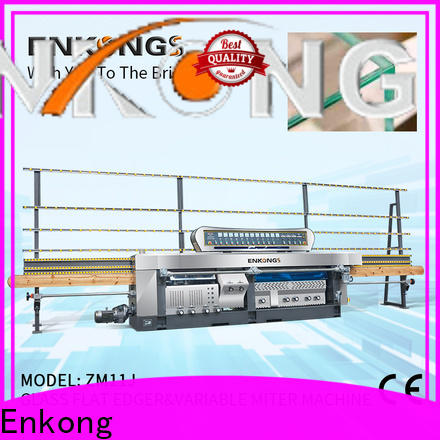 Enkong real glass mitering machine supplier for polish