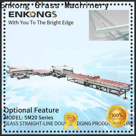 Enkong straight-line glass double edging machine manufacturer for round edge processing