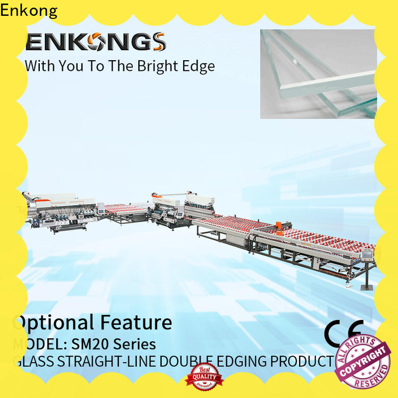 Enkong high speed double edger machine factory direct supply for round edge processing