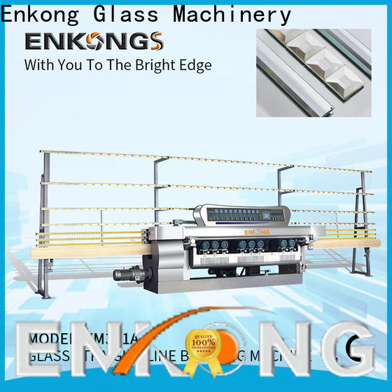 Enkong real glass beveling machine factory direct supply for glass processing