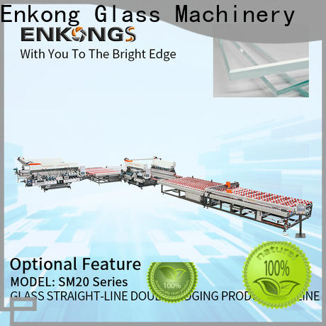 Enkong high speed glass double edging machine series for round edge processing